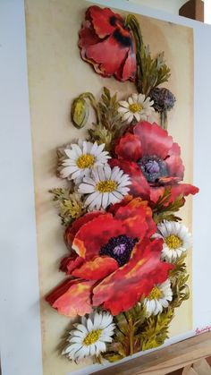 Art Floral, Flower Quilts, Decoupage Art, Ceramic Flowers, Clay Crafts, Clay Art, Art Lessons, Pink Flowers, Diy Wedding