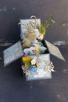 Beautiful Birds in the Garden Card in a Box