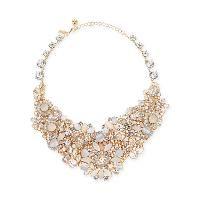 grand bouquet statement necklace, clear | Find.com