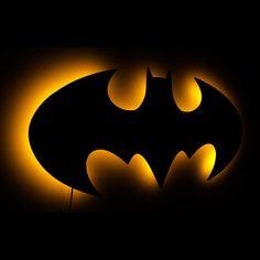 Batman Lamp Lighted 1998 Batman Logo Wall Art and by LuxChroma