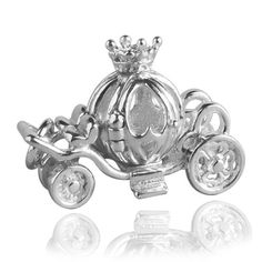 Fairy-Princess-Cinderella-Coach-Sterling-Silver-925-Charm-Pendant-Opens-Moves