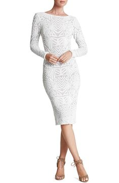 Free shipping and returns on Dress the Population 'Emery' Sequin Midi Dress at Nordstrom.com. Dazzling, densely sewn sequins make mesmerizing Art Deco-inspired patterns on a body-hugging dress cut with a high neck, full-length sleeves and a revealing low backline.