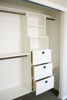 Awesome DIY closet - perfect kids closet!