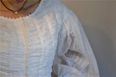 The Story of a Seamstress: sewing 1860's white shirted bodice