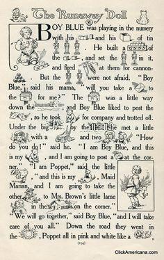 The Runaway Doll  Boy Blue, Maid Marian Mrs. Brown  Charming story