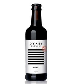 Dykes Brewery Stout Label