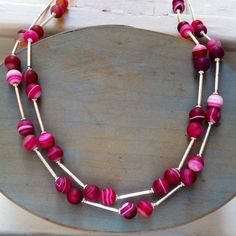 Red Agate and Sterling silver necklace £139.00