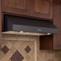 30 Fente Series Stainless Steel Black Under Cabinet Range Hood 600 Cfm Fan