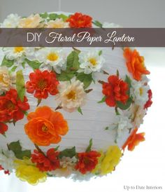 DIY Floral Paper Lantern and Summer Table Decor - Up to Date Interiors