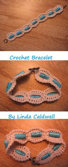 Crochet Bracelet - no pattern only an image, but great idea, will have to try it someday soon