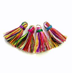 Small Tassels Multicolored Tassels Colorful by prettylittlesupply