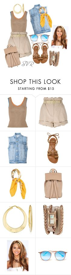 """""""SVR harmony"""" by svrrvs ❤ liked on Polyvore featuring Loewe, Moschino, Frame, Stuart Weitzman, Hermès, DESA 1972, Ross-Simons, La Mer and Ray-Ban"""