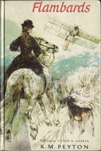 Flambards by K.M. Peyton, also The Edge of the Cloud and Flambards in Summer   First US edition cover