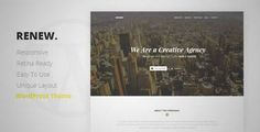 Download and review of RENEW - Creative One Page WordPress Theme, one of the best Themeforest Creatives themes