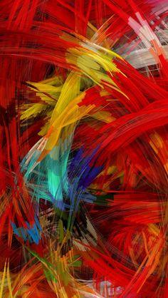Colorful Digital Painting #iPhone #5s #Wallpaper | Download more here:http://www.ilikewallpaper.net/iphone-5-wallpaper/.
