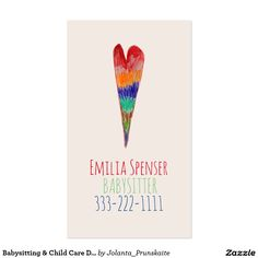 Day care child care babysitting promo card pinterest business babysitting child care drawing heart card colourmoves
