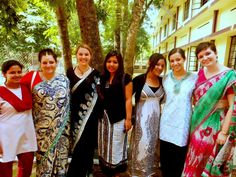 King's College students and local students during study abroad program in India 2012