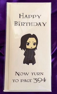 Harry potter birthday card featuring severus snape and the rest of harry potter inspired birthday card happy by wizardcraftsonline bookmarktalkfo Images