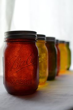 jars in autumn hues