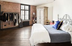 You Can Now Stay In Kirsten Dunst's Incredible NYC Pad #refinery29  http://www.refinery29.com/2014/09/74486/kirsten-dunst-new-york-condo-for-rent#slide5  We're skeptical about the closet space in the bedroom — one wardrobe and a rack don't seem nearly enough to house Dunst's sartorial collection.