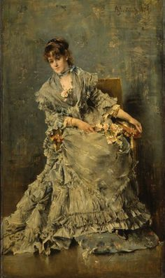Alfred Stevens.The Attentive Listener There is something quite interesting about this painting.
