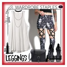 """""""wicked leggings"""" by jennross76 on Polyvore featuring Rat Baby, RVCA, Lime Crime, Leggings and WardrobeStaples"""