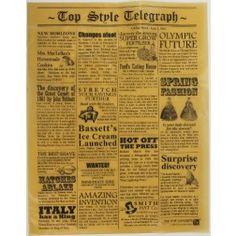 TopStyle Newspaper Waxed Food Paper Kraft 39 x 30cm (per pack)