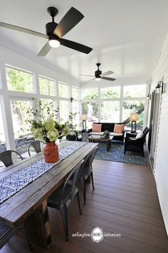 Porch by Suzanne Manlove | Arlington Home Interiors