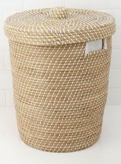 Seagrass Nautical Weave Laundry Bin