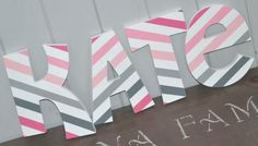 Wooden Letters For Kids Rooms Personalized Wooden Wall Letters For Kids Rooms  Pink Grey And Wh   On Kids Room Pic