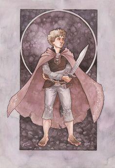 Here's some Bilbo Baggins artwork from my favorite Tolkien artist on DeviantArt.