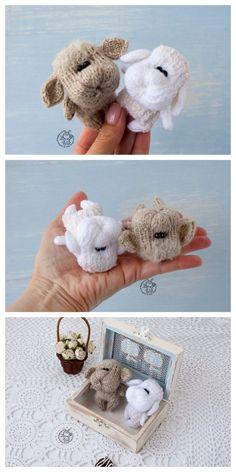 Amigurumi Sleeping Lamb Free Pattern – Free Amigurumi Patterns Amigurumi Doll, Amigurumi Patterns, Crochet Patterns, Crochet Ideas, Crochet Animals, Crochet Toys, Free Crochet, Easter Crochet, Baby Chicks