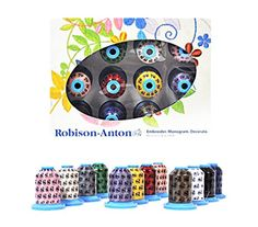 Robison Anton Top 12 Polyester Embroidery Thread Set *** Click image to review more details.