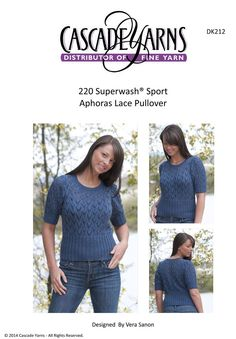 Aphoras Lace Pullover in Cascade 220 Superwash Sport - DK212. Discover more Patterns by Cascade Yarns at LoveKnitting. We stock patterns, yarn, needles and books from all of your favorite brands.