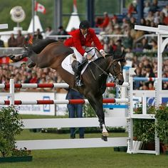 Eric Lamaze & Hickstead - inspiration photo - next fence in sight!