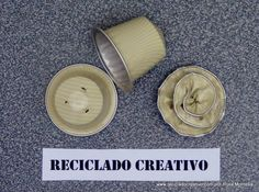 Cómo hacer flores con cápsulas de café - How to make flowers out of recy...