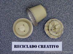 Cómo hacer flores con cápsulas de café - How to make flowers out of recy...