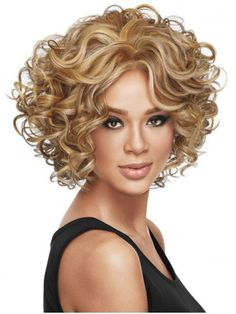 Buy 2016 Ladies Women's fashion Curly Mixed Blonde Natural Hair Wigs + wig cap at Wish - Shopping Made Fun Short Wigs, Curly Wigs, Short Curly Hair, Human Hair Wigs, Curly Hair Styles, Natural Hair Styles, Afro Wigs, Blonde Natural Hair, Natural Hair Wigs