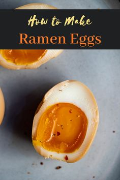 Slight salty sweet and packed with umami goodness these jammy soft boiled Ramen Eggs are what life is all about. They are super easy to make and perfect in ramen as a snack or any way you like them! Egg Recipes, Asian Recipes, Cooking Recipes, Egg Bites Recipe, How To Make Ramen, Fusion Food, International Recipes, Yummy Food, Healthy Food