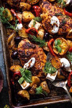 Cooking Recipes, Healthy Recipes, Dump Recipes, Easy Recipes, Half Baked Harvest, Greek Recipes, Easy Greek Recipe, Greek Chicken Recipes, Main Dishes
