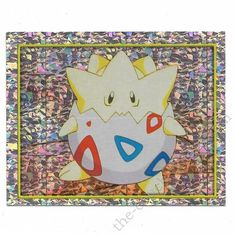 Pokemon Sticker Card Togepi foil   197 2x3 inches Merlin 2000 TV show  pictures 2000 Tv bbe513e9216d