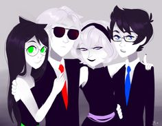 Neat picture of them Homestuck Comic, Homestuck Characters, Fictional Characters, Dave Strider Cosplay, Homestuck Wallpaper, Day Walker, Fanart, Sea Dweller, Told You So