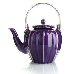 RANGOON  Teapot  purple porcelain