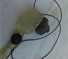 handmade necklace/ summer/ wooden bead/ macrame/ K.ompo.S- Handmade Jewel