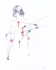"""""""Y eso le causa más dolor a mis heridas"""" @carlitamorrison #novuelvojamás // #illustration #drawing #pencilcolor #pencildrawing #prismacolor #blackandwhite #sketch #projectillustration #sadillustration #girl #girlillustration #hurt"""