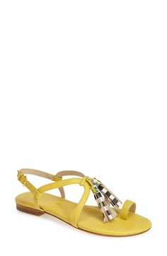 Bettye Muller 'Sasha' Leather Tassel Sandal (Women) available at #Nordstrom