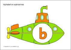 Alphabet on submarines (SB4237) - SparkleBox