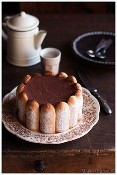 Charlotte intensément chocolat, pointe de café…