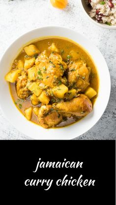 Jamaican curry chicken is loaded with big Caribbean flavours.You can find Curry chicken recipes jamaican and more on our website.Jamaican curry chicken is loaded w. Jamaican Cuisine, Jamaican Dishes, Jamaican Recipes, Curry Recipes, Carribean Food, Caribbean Recipes, Caribbean Chicken, Carribean Party, Jamaican Curry Chicken