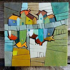 No photo description available. Opus Vermiculatum, Mosaic Projects, Mosaic Ideas, Glass Building, Mosaic Artwork, Fused Glass Art, Mosaic Designs, Textiles, Map Art